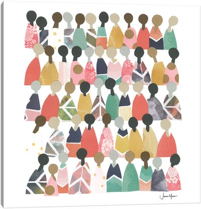 Pastel Diverse People Of Color Canvas Art Print