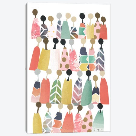 Pastel Rainbow People Canvas Print #LUL42} by LouLouArtStudio Art Print