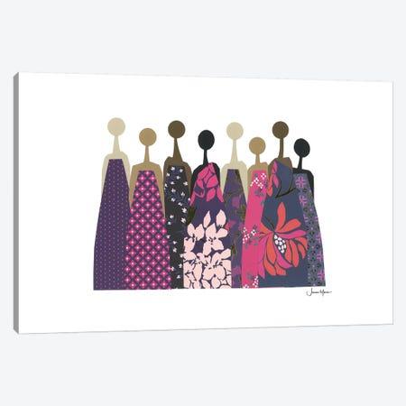 Sisterhood March In Pink & Purple Canvas Print #LUL50} by LouLouArtStudio Canvas Wall Art