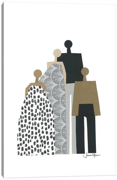 Biracial Family Portrait Canvas Art Print