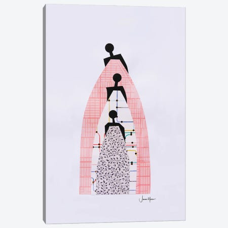 Standing On The Shoulders Of Our Ancestors Canvas Print #LUL71} by LouLouArtStudio Canvas Artwork