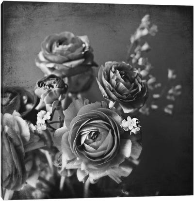 Silvery Flowers Canvas Print #LUP27