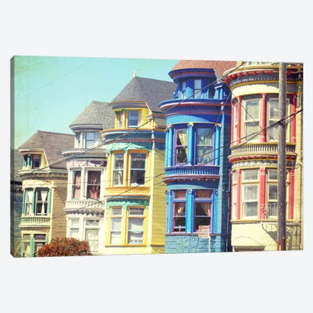 Colorful Houses Canvas Print #LUP9} by Lupen Grainne Canvas Art Print