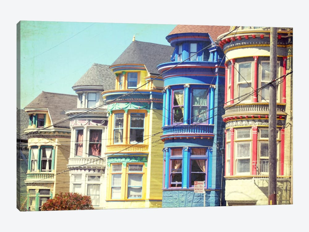 Colorful Houses by Lupen Grainne 1-piece Canvas Art