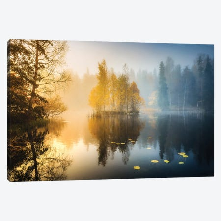 Forest Pond III Canvas Print #LUR102} by Lauri Lohi Canvas Art Print