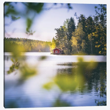 Summer Cottage Canvas Print #LUR117} by Lauri Lohi Canvas Print