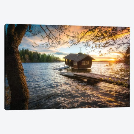 Floatin Sauna Canvas Print #LUR19} by Lauri Lohi Canvas Wall Art