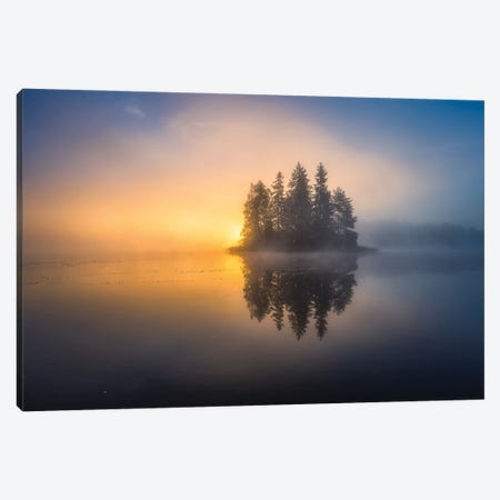 Atmospheric Autumn Morning Canvas Print #LUR2} by Lauri Lohi Canvas Print