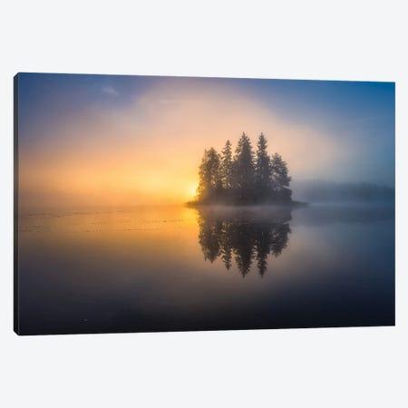 Atmospheric Autumn Morning Canvas Print #LUR2} by Lauri Lohi Canvas Print