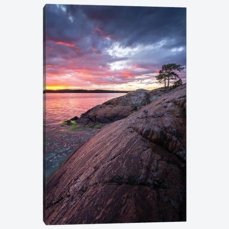 Saaronniemi Sunset Canvas Print #LUR31} by Lauri Lohi Canvas Art