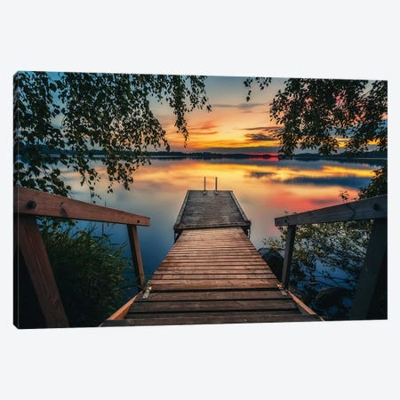 Between The Evening And Night Canvas Print #LUR83} by Lauri Lohi Canvas Art Print
