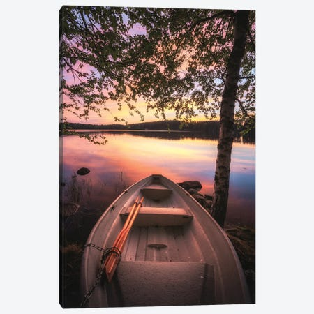 Boat At The Lake Canvas Print #LUR8} by Lauri Lohi Canvas Print