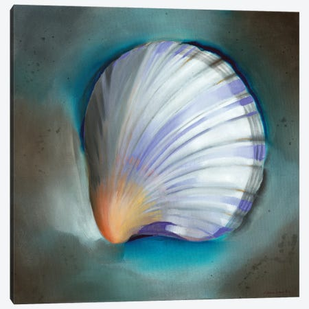 Clam Shell Glow Canvas Print #LUS3} by Louise Montillo Canvas Art