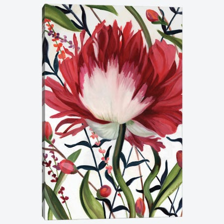 Poppy Dance Closed Canvas Print #LUS5} by Louise Montillo Canvas Print