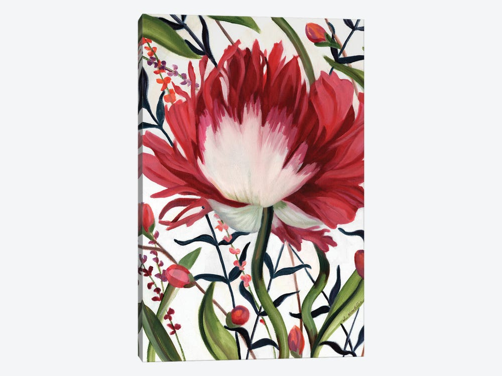 Poppy Dance Closed by Louise Montillo 1-piece Art Print