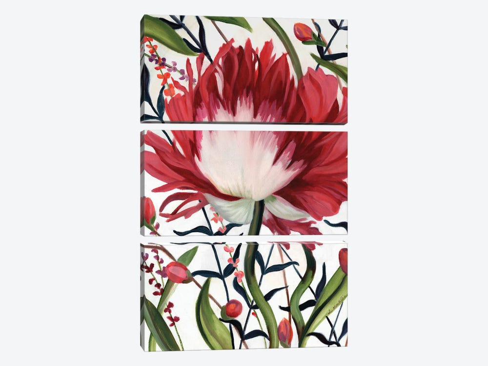 Poppy Dance Closed by Louise Montillo 3-piece Art Print