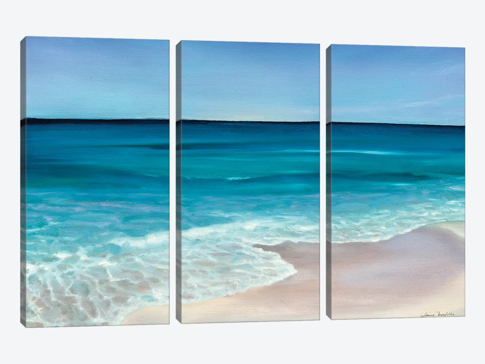Rippling Waves by Louise Montillo 3-piece Canvas Artwork