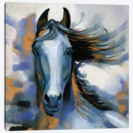 Wild Blues Canvas Print #LUS7} by Louise Montillo Canvas Art Print