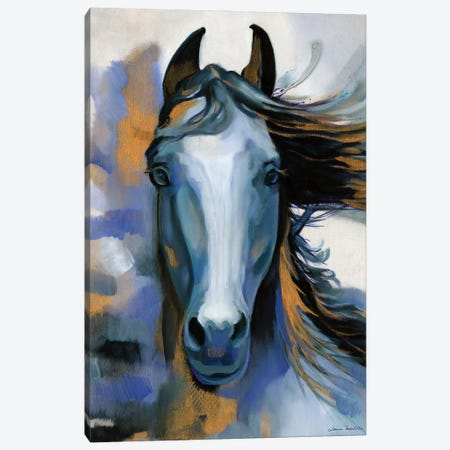 Wild Blues Canvas Print #LUS8} by Louise Montillo Canvas Art
