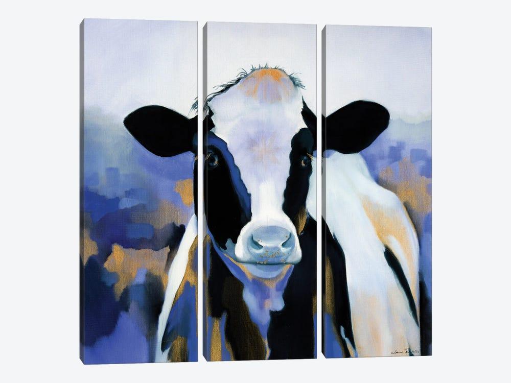 Wild Blues by Louise Montillo 3-piece Canvas Art Print