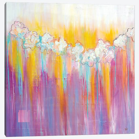 Spring Blossoming Canvas Print #LUV22} by Larissa Uvarova Art Print