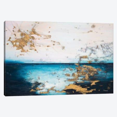 At The Edge Of The Water Canvas Print #LUV28} by Larissa Uvarova Canvas Art Print