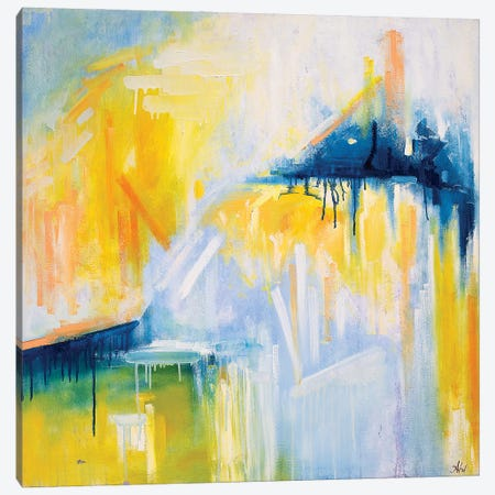 Code: I Love You Canvas Print #LUV39} by Larissa Uvarova Canvas Art
