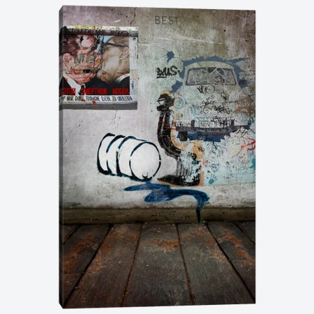 The Kiss Canvas Print #LUZ10} by Luz Graphics Canvas Art