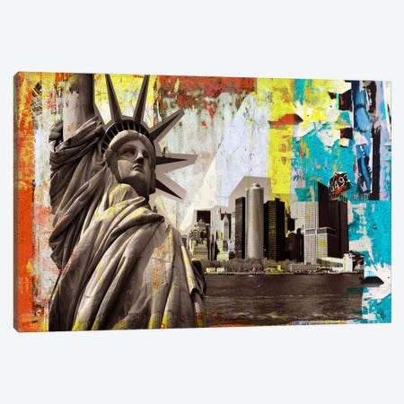 Statue of Liberty Canvas Print #LUZ13} by Luz Graphics Canvas Artwork