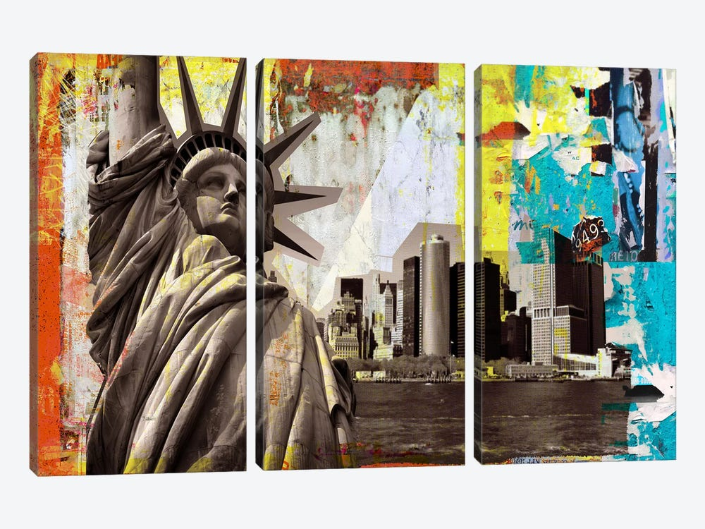 Statue of Liberty by Luz Graphics 3-piece Art Print