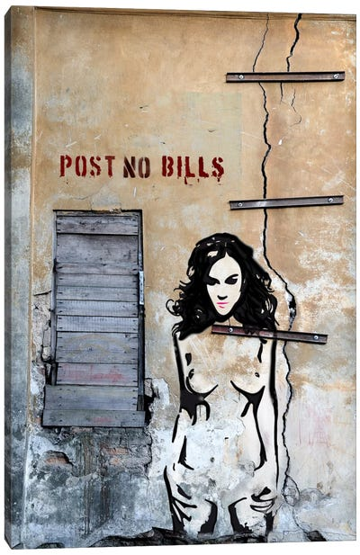 Post No Bills Canvas Art Print