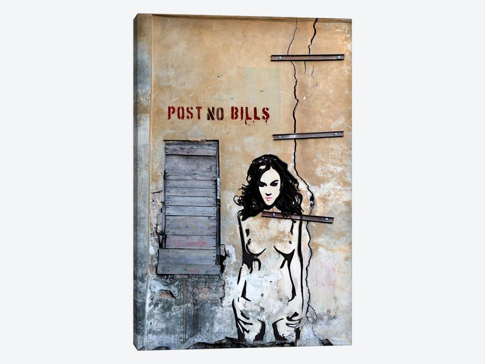 Post No Bills by Luz Graphics 1-piece Canvas Artwork