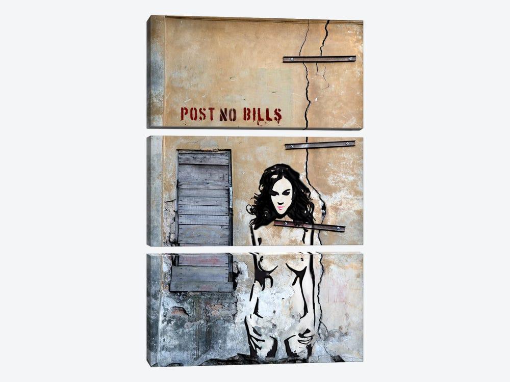 Post No Bills by Luz Graphics 3-piece Canvas Artwork