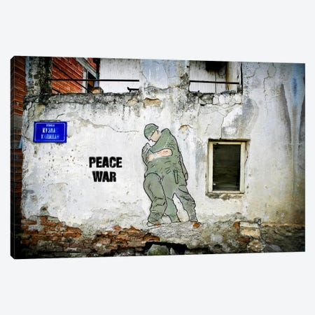 Peace War Canvas Print #LUZ22} by Luz Graphics Art Print