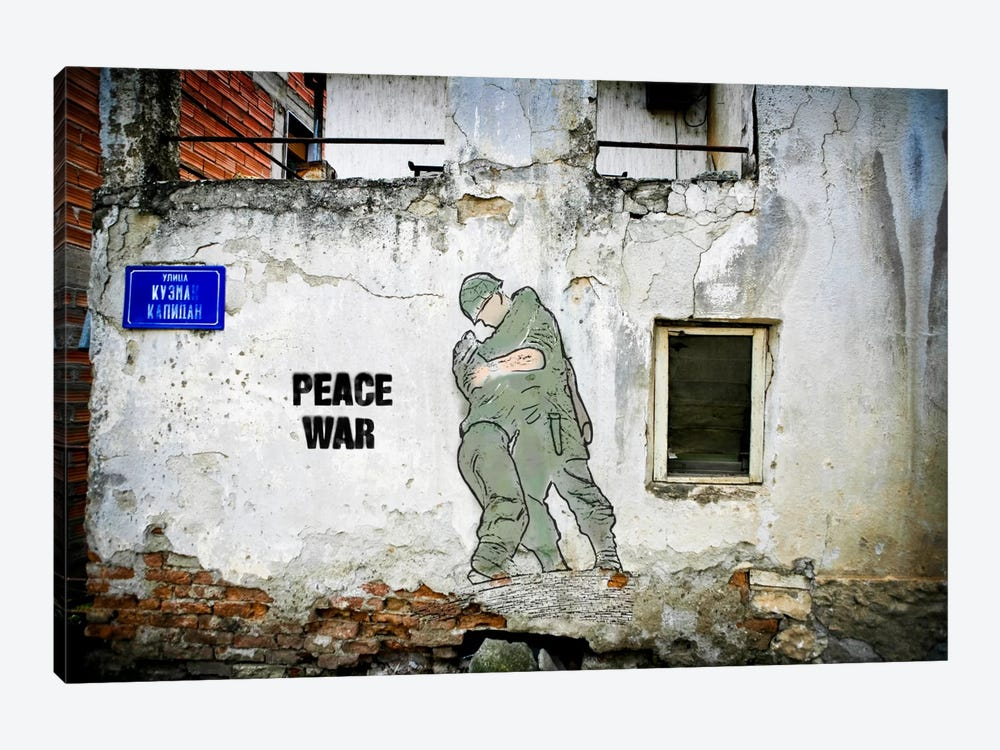 Peace War by Luz Graphics 1-piece Canvas Print