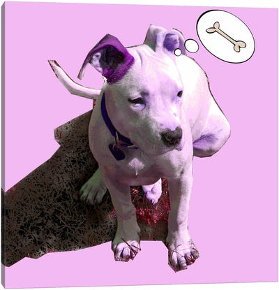 Pink Puppy Canvas Print #LUZ23