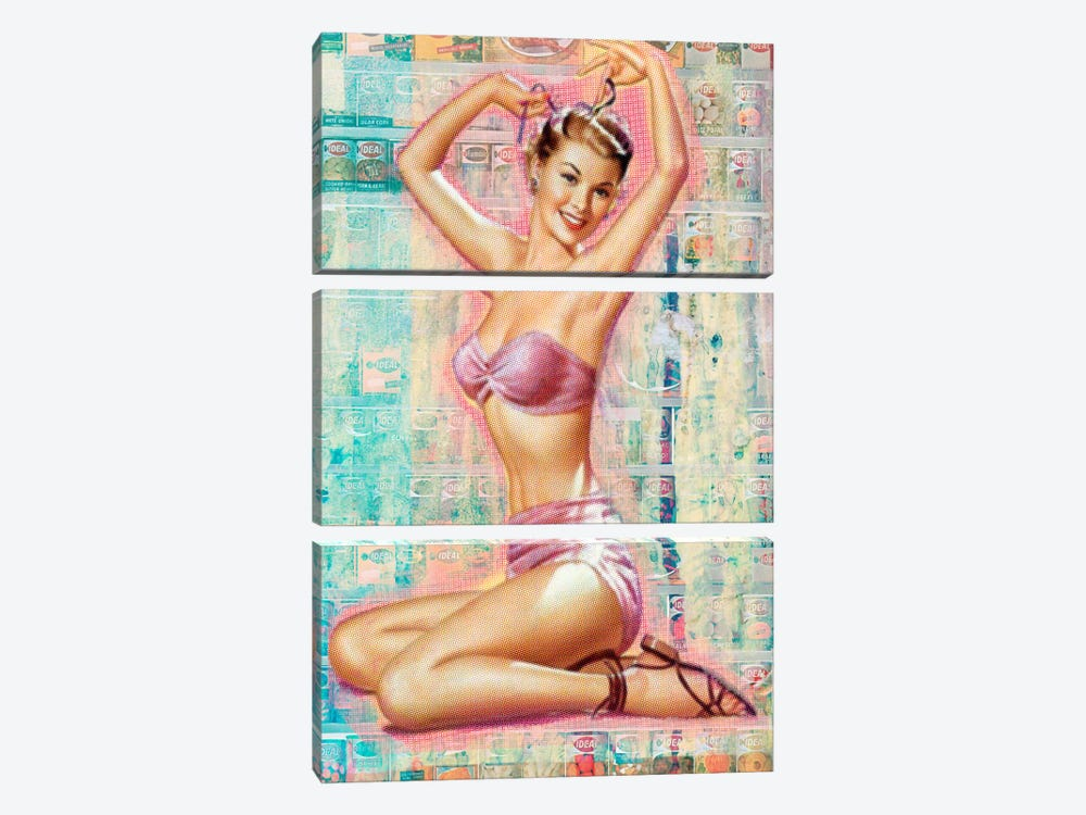 Pin-Up #1 by Luz Graphics 3-piece Canvas Art Print