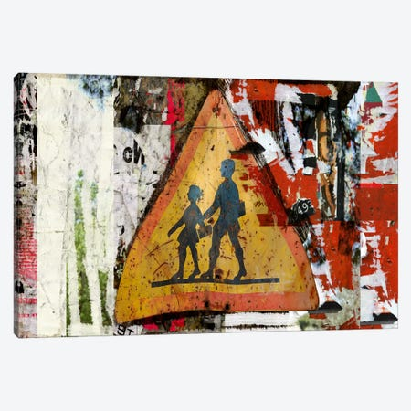 Pancarte Scolaire (School Sign) Canvas Print #LUZ25} by Luz Graphics Canvas Artwork