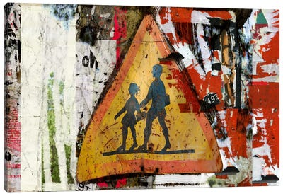 Pancarte Scolaire (School Sign) Canvas Art Print