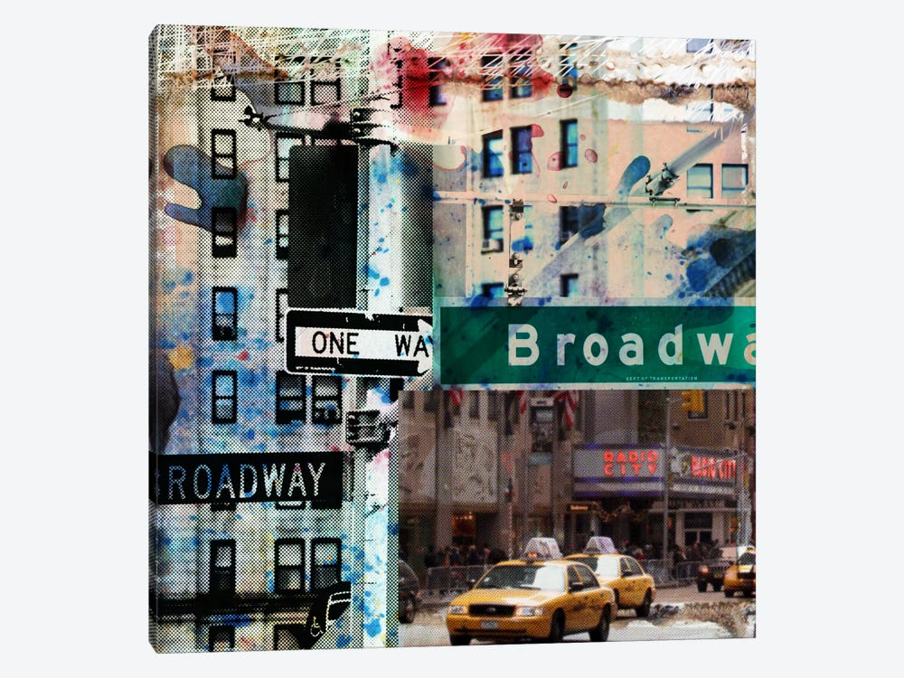 One Way Broadway 1-piece Canvas Artwork
