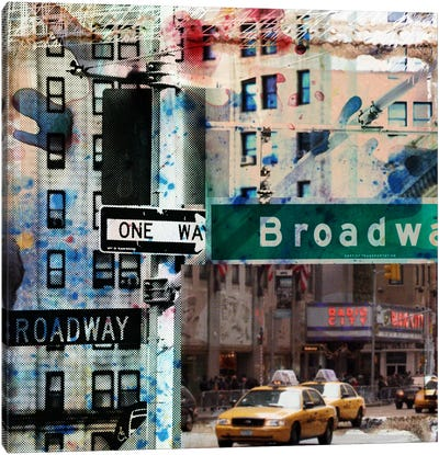 One Way Broadway Canvas Art Print