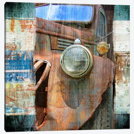 Old Truck Canvas Print #LUZ28} by Luz Graphics Canvas Art Print