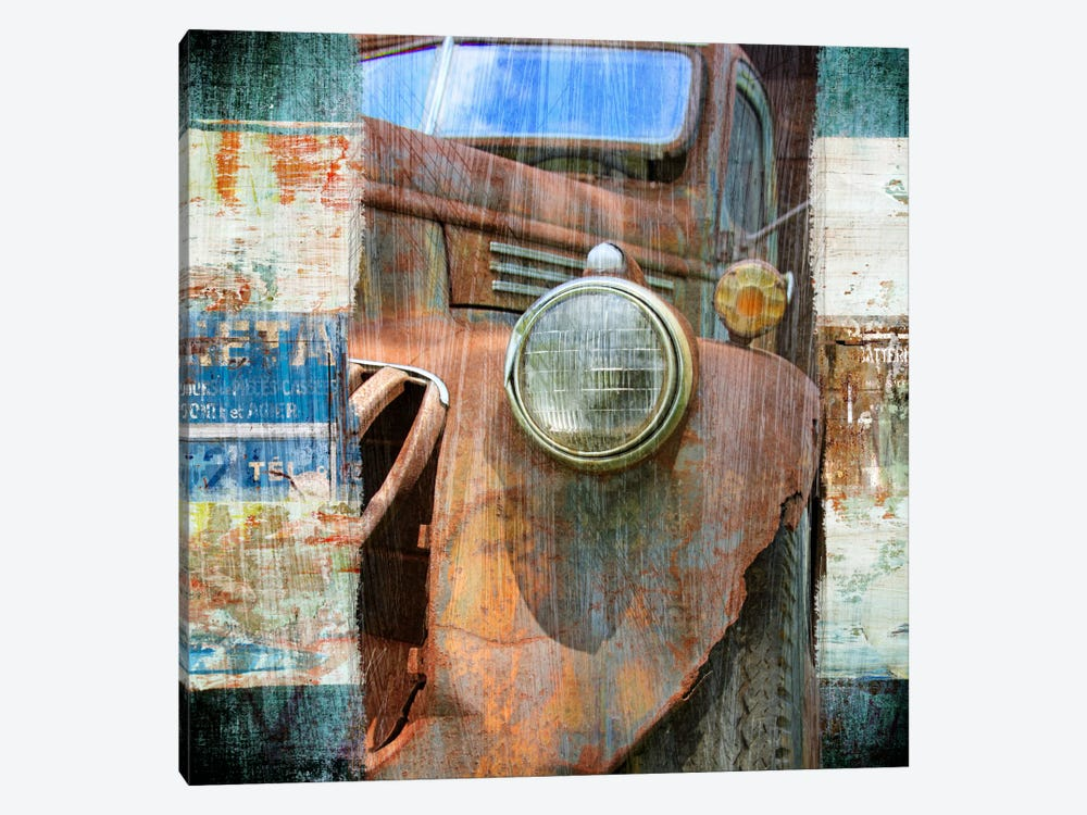 Art Frame Source 16008 Luz I Framed Art: Old Truck Canvas Wall Art By Luz Graphics