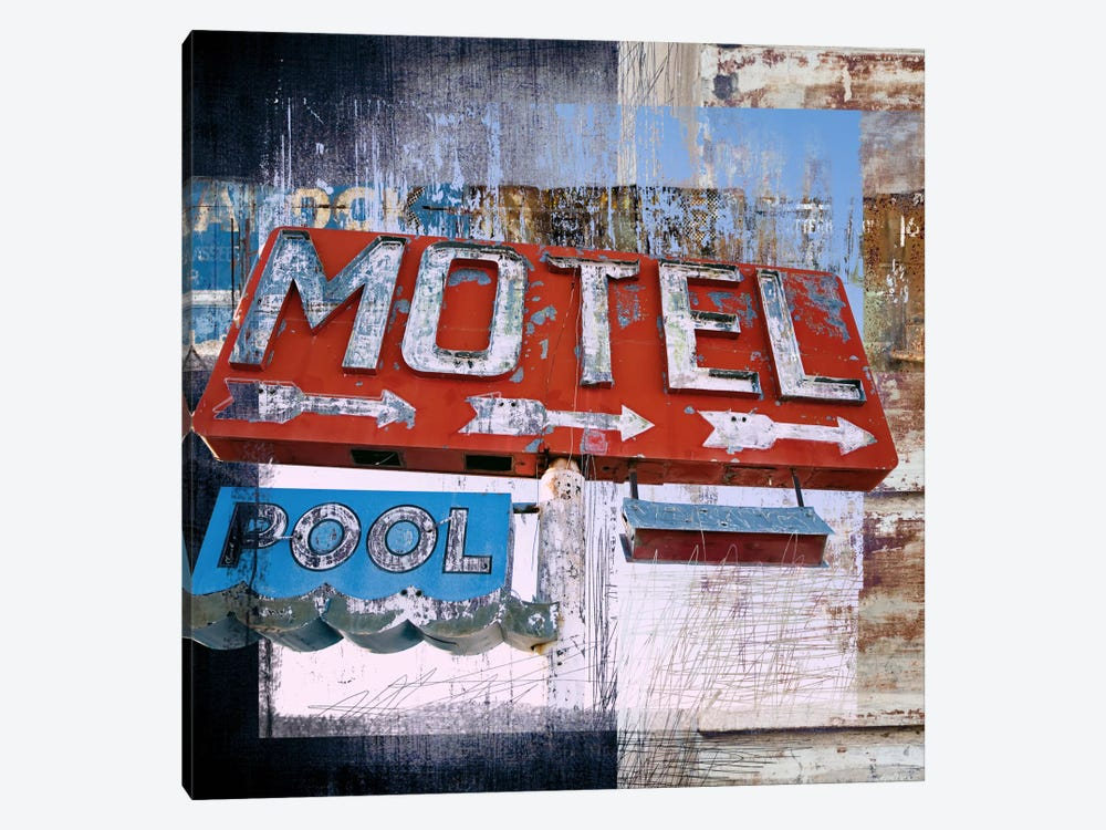 Motel Pool by Luz Graphics 1-piece Canvas Art