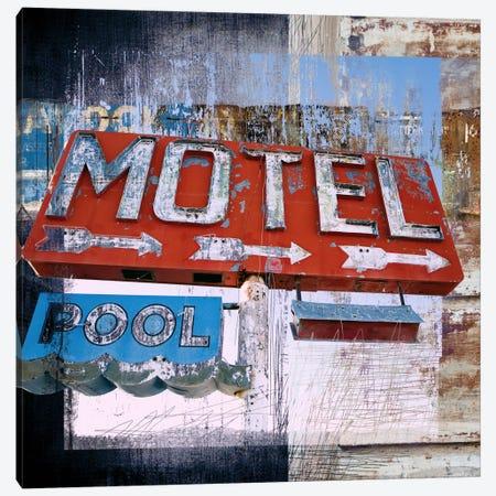 Motel Pool Canvas Print #LUZ32} by Luz Graphics Canvas Art