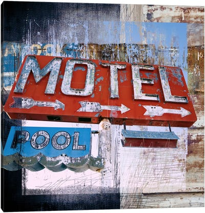 Motel Pool Canvas Art Print