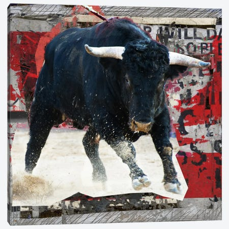 Mad Toro Canvas Print #LUZ33} by Luz Graphics Canvas Wall Art