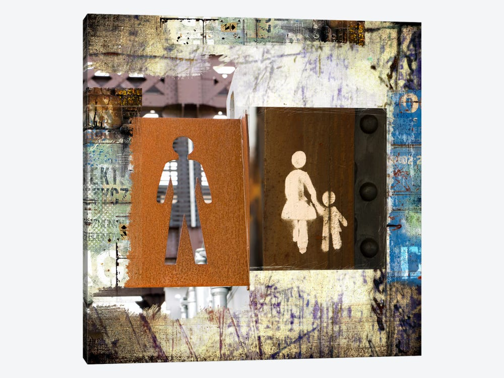 ManWoman, Child 1-piece Canvas Wall Art