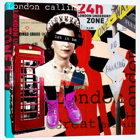 London #51 Canvas Print #LUZ38} by Luz Graphics Canvas Artwork