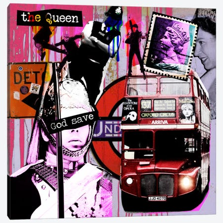 London #3 Canvas Print #LUZ40} by Luz Graphics Canvas Print